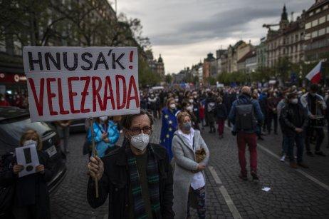 Demonstraci pořádalo hnutí Milion chvilek pro demokracii. Foto: Gabriel Kuchta, Deník N