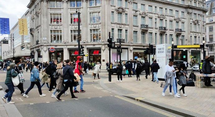 Londýn po lockdownu. Foto:Dora Martinková
