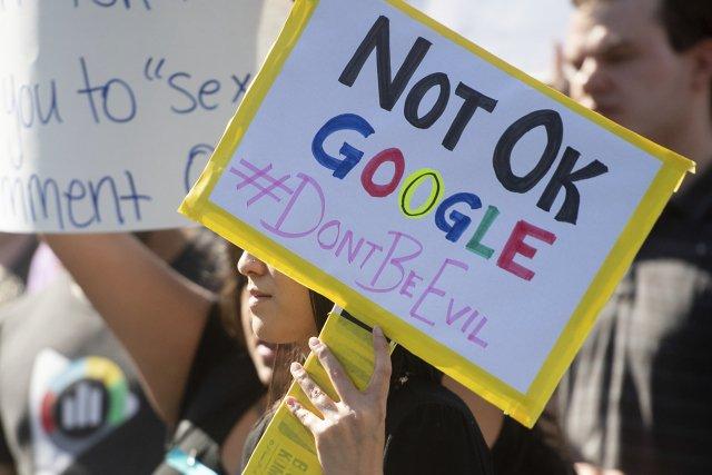Demonstrace proti Googlu vUSA vroce 2018. Foto:ČTK/ AP Photo/ Noah Berger