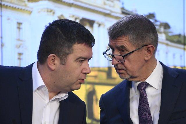Jan Hamáček a Andrej Babiš. Ilustrační foto: ČTK