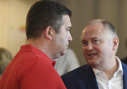 Jan Hamáček aMichal Hašek na ilustračním snímku zroku 2020. Foto:ČTK