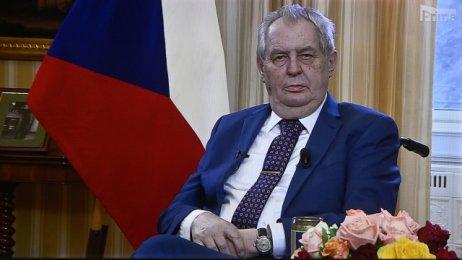 Prezident Miloš Zeman při projevu, kterým zasáhl do kauzy Vrbětice. Foto:ČTK