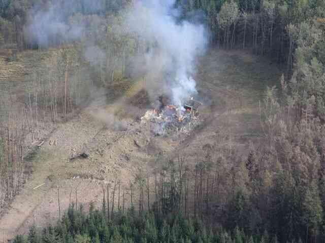 Výbuch ve Vrběticích. Foto:Policie ČR