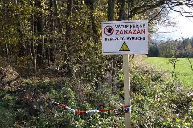 Výbuch ve Vrběticích. Foto: Policie ČR