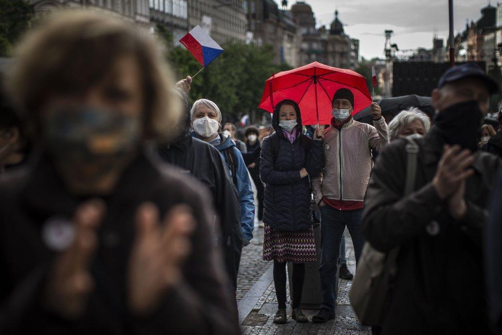 Na akci se podle policie sešly čtyři až pět tisíců lidí. Foto:Gabriel Kuchta, DeníkN