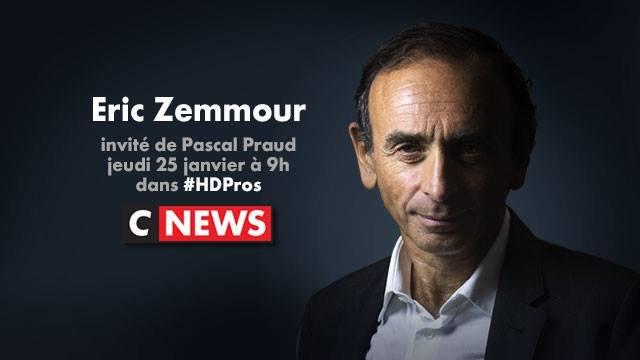 Eric Zemmour v upoutávce televize CNews. Foto: Facebook televize, CNEWSofficiel