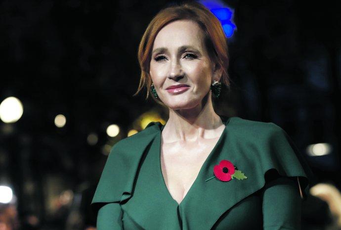 J. K. Rowlingová na premiéře druhého dílu série Fantastická zvířata v roce 2018. Foto: Christophe Ena, ČTK/AP