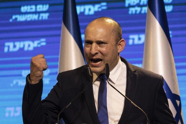 Lídr izraelské krajně pravicové strany Jamina Naftali Bennett. Foto:ČTK/AP