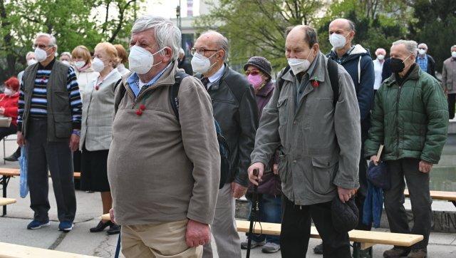 Takto si letos připomínali komunisté svůj oblíbený Svátek práce v Brně. Foto: ČTK