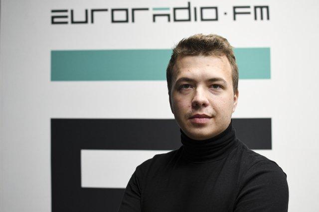 Raman Pratasevič zadržený běloruským režimem. Foto: ČTK