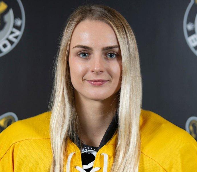 Tereza Vanišová prošla draftem do NWHL v roce 2020. Foto: archiv Terezy Vanišové