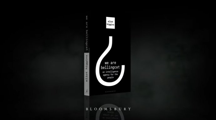 Kniha We Are Bellingcat vyšla v angličtině v únoru 2021. Autorem je zakladatel projektu Eliot Higgins. Zdroj: Youtube bellingcat
