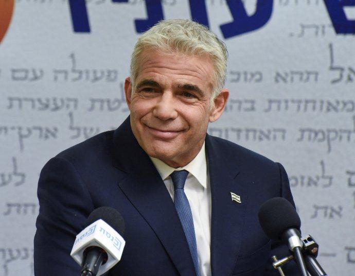 Vůdce izraelské opozice astrany Ješ atid Jair Lapid. Foto:Debbie Hillová, pool via Reuters