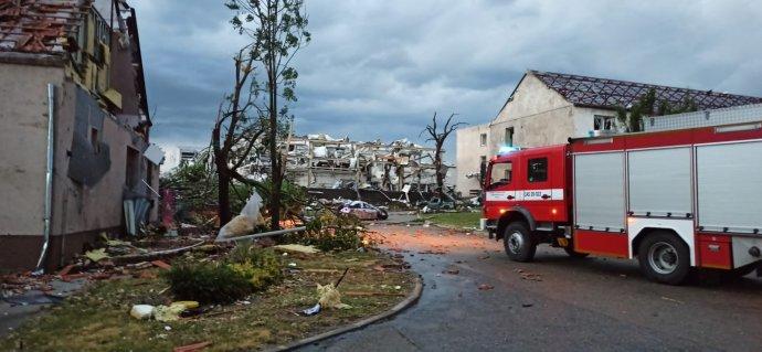 Následky bouře v Jihomoravském kraji. Foto: HZS