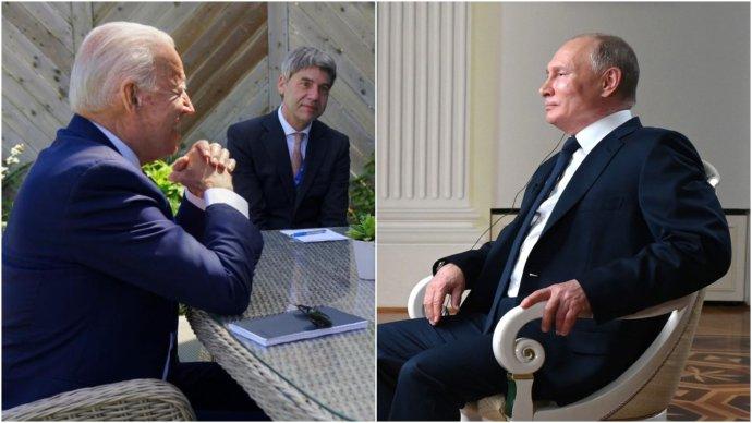 Setkání amerického prezidenta Joea Bidena a ruského prezidenta Vladimira Putina je provázeno velkým napětím, konkrétní očekávání jsou už mnohem zdrženlivější. Foto:The White House, POTUS, Twitter aKreml, kremlin.ru, koláž: DeníkN