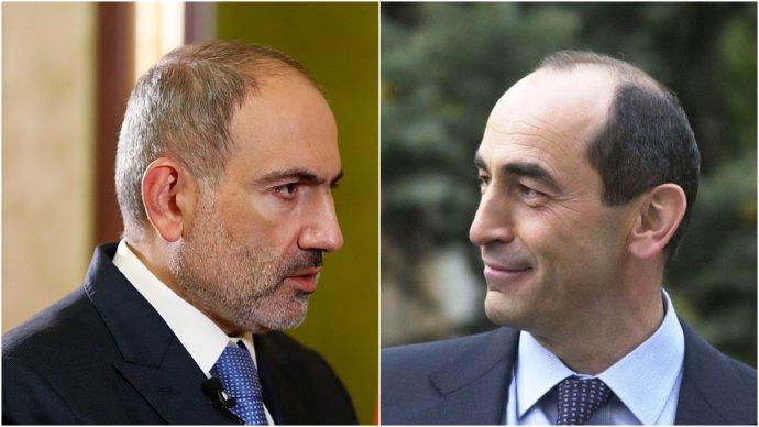 Arménský premiér Nikol Pašinjan abývalý prezident Robert Kočarjan. Foto:úřad premiéra, primeministeram aLimegirl, Wikimedia Commons, CC BY-SA 3.0