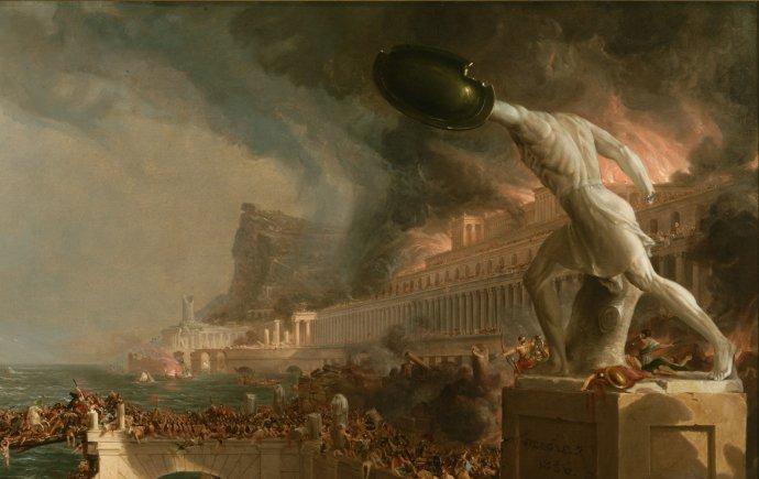 Skutečný přínos zániku Říma se projevil až po mnohem delší době. Foto: New York Historical Society