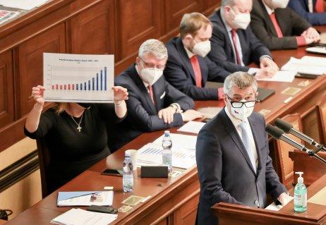 Hlasování onedůvěře vládě. Foto:Gabriel Kuchta, DeníkN