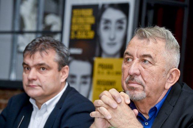Majitel Febiofestu Kamil Spáčil (vlevo) a prezident festivalu Fero Fenič na snímku z roku 2019. Foto: ČTK