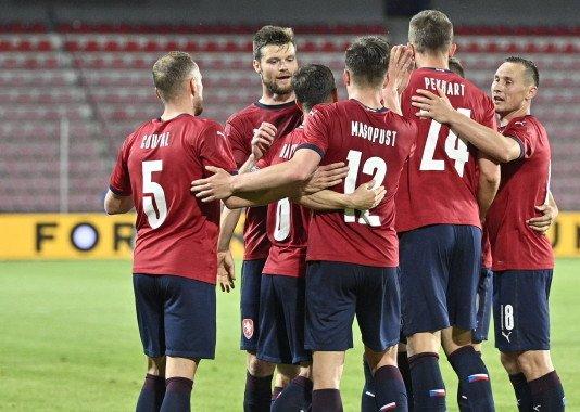 Česká fotbalová reprezentace si vgenerálce před šampionátem poradila sAlbánií 3:1. Foto:ČTK / Kamaryt Michal