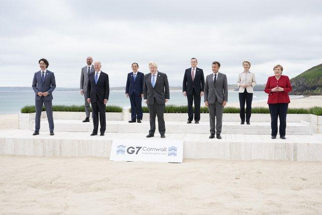 Lídři na summitu G7vbritském Cornwallu. Foto:ČTK / AP Photo / Patrick Semansky, Pool