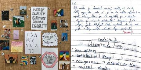 """""""Je to jeden znejvětších influencerů vČesku,"""" říkají o Dominikovi Ferim studenti. Znají ho totiž především ze sociálních sítí. Jak hodnotí kauzu instagramového oblíbence? Koláž: Deník N"""