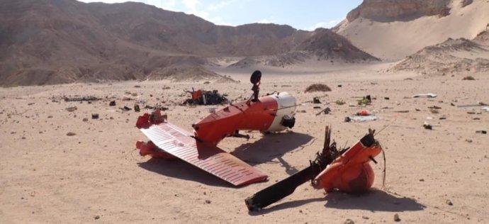 Snímek z místa havárie vrtulníku Black Hawk na Sinaji. Foto: vyšetřovací spis US Army