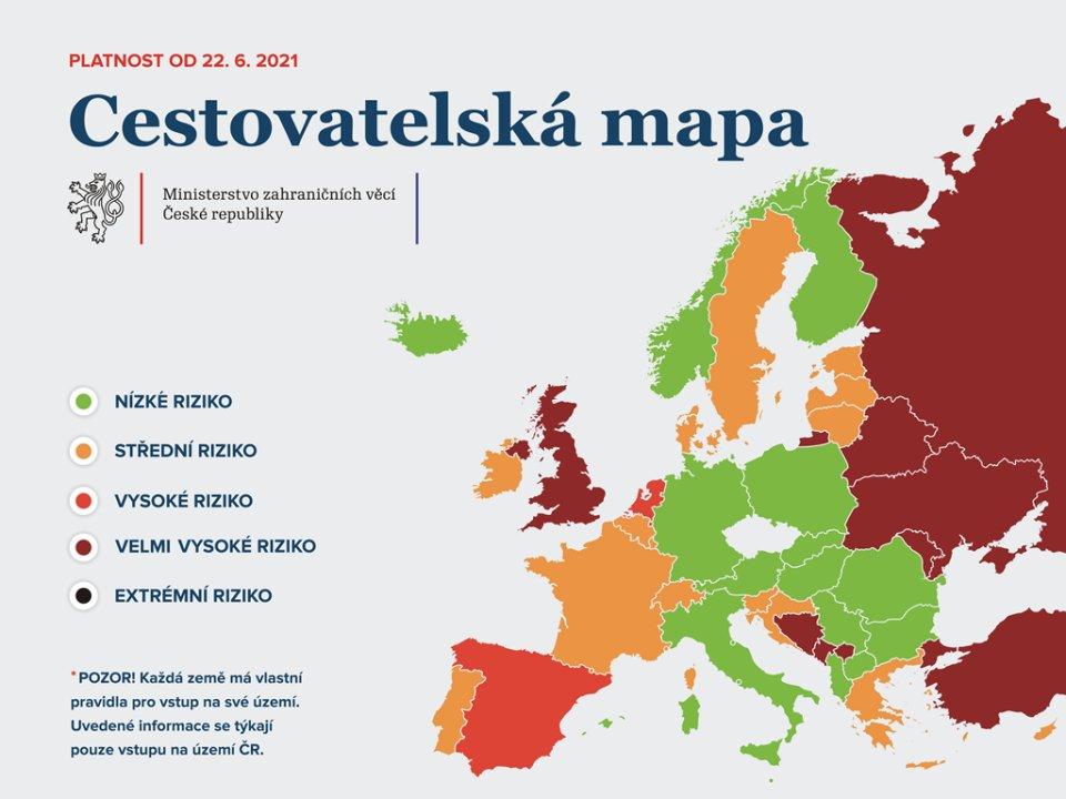 Cestovatelská mapa. Foto: MZV ČR