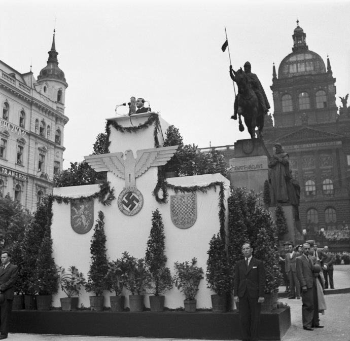 Svatého Václava využívali ke svým propagandistickým cílům nejdřív čeští fašisté, pak i němečtí nacisté. Foto: ČTK