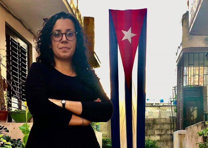 Nezávislou kubánskou novinářku Camilu Acostovou komunistická policie zadržovala čtyři dni za účast na protestech. Foto:archiv C.A.