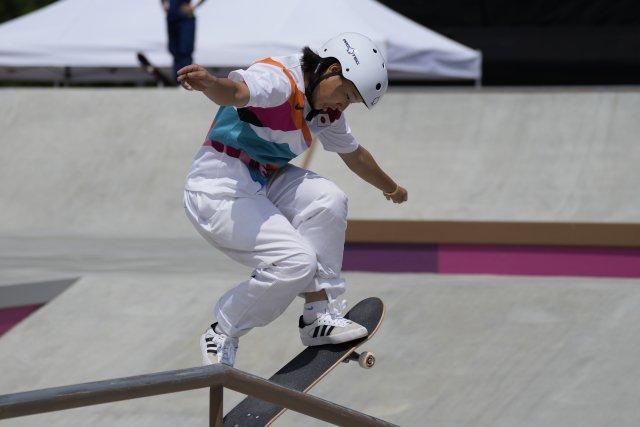 Momidži Nišijová se stala nejmladší japonskou olympijskou vítězkou v historii. Foto: ČTK/AP