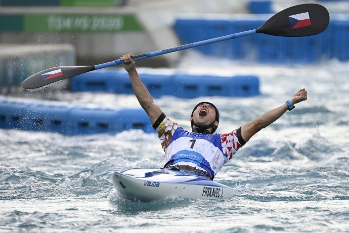 Letní olympijské hry Tokio 2020, 30.července 2021. Vodní slalom, K1muži, finále. Vítěz Jiří Prskavec zČR. Foto:Ondřej Deml, ČTK