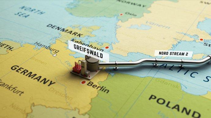 Plynovod Nord Stream 2má stejně jako jeho starší větev NS1za cíl obejít na cestě do Německa Baltským mořem především území Ukrajiny. Obrázek: Framestock, Adobe Stock