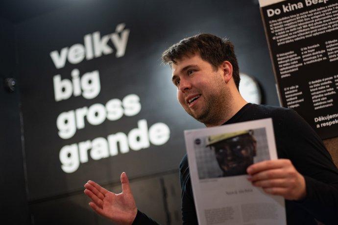 Jindřich Andrš na jednom z mnoha veřejných vystoupení k filmu. Foto: Jiří Šeda