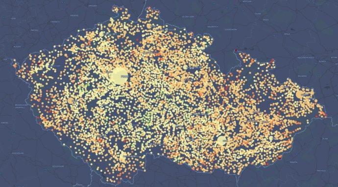 Jak je na tom sočkováním vaše obec? Mapa: Daniel Kerekes pro DeníkN