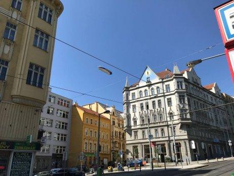 Vzducholoď nad Prahou. Foto:Michal Tomeš, DeníkN