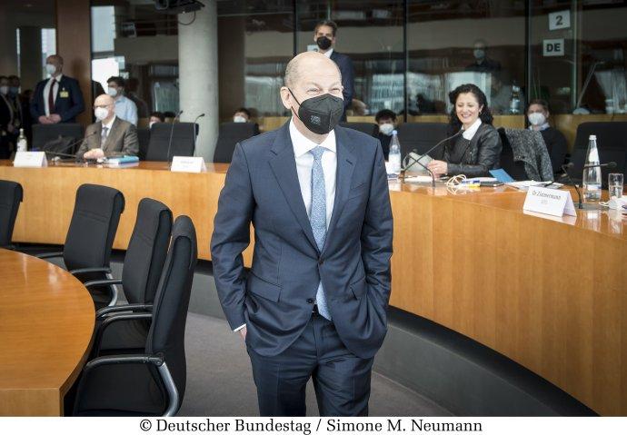 Něměcký vicekancléř, ministr financí akandidát na kancléře za SPD Olaf Scholz. Foto:Simone Neumannová, Bundestag