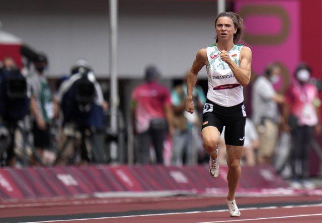 Kryscina Cimanouskaja se v Tokiu představila pouze ve sprintu na 100 metrů. Foto: ČTK/ Petr David Josek, AP