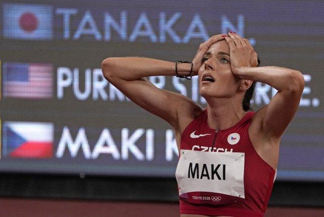 Česká běžkyně Kristiina Mäki pokořila v semifinálovém běhu národní rekord. Foto: AP/ČTK.