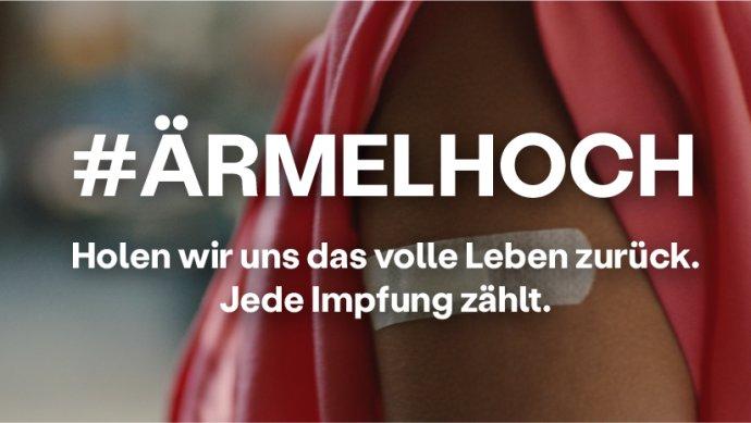 """""""VYHRNOUT RUKÁV!"""" Heslo očkovací kampaně německé vlády. Zdroj: spolková vláda, facebook.com/Bundesregierung"""