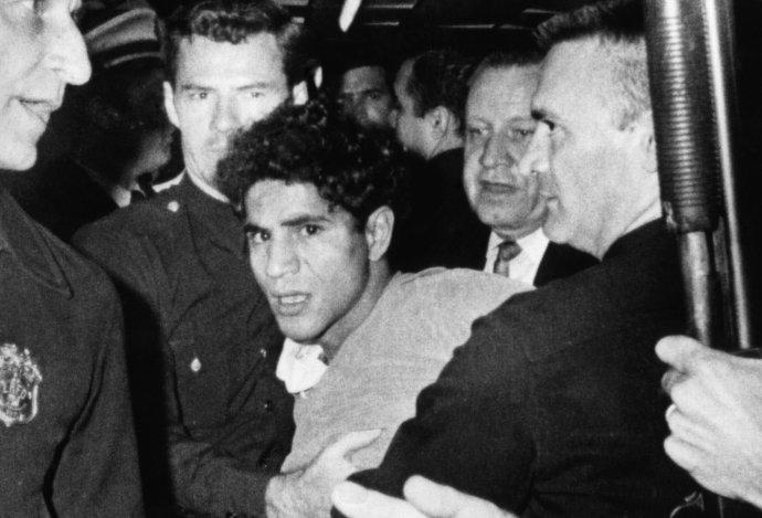 Sirhan Sirhan podezřelý zvraždy amerického senátora Roberta F. Kennedyho vhotelu Ambassador vLos Angeles 5.června 1968. Foto:CSU Archives / Everett Collection / Adobe Stock