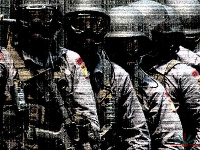 Densus 88, indonéská speciální policejní protiteroristická jednotka založená vroce 2003, rok po terostickém útoku na Bali. Stylizované foto:AK Rockefeller, Flickr, CC BY SA 20