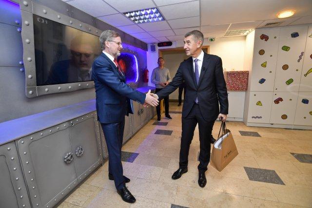 Premiér a předseda ANO Andrej Babiš a lídr koalice Spolu Petr Fiala (ODS). Foto: ČTK