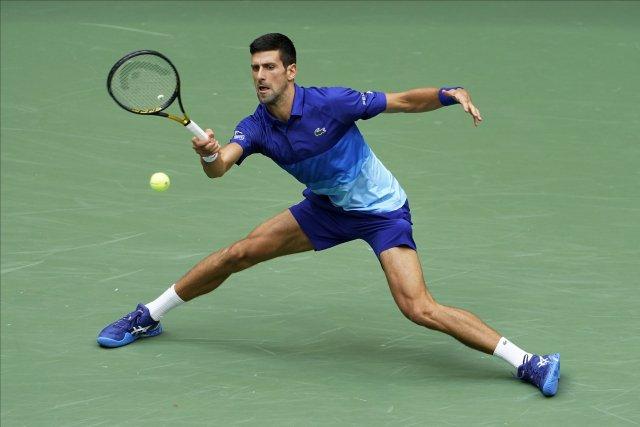 Srbský tenista Novak Djokovič během finále US Open. Foto: ČTK/AP