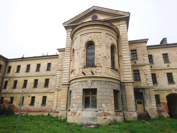 Fotografie jedné části uherskohradišťské věznice. Zdroj: Anna Stránská, archiv spolku Memoria.