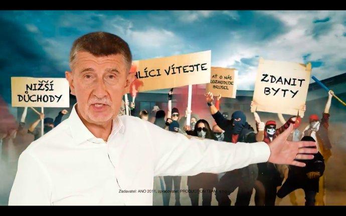 Hnutí ANO ve svém spotu varuje před konkurencí, chce své voliče chránit. Zdroj: ANO 2011
