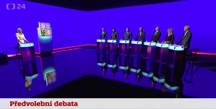 Předvolební debata ČT24 zJihomoravského kraje. Foto: repro ČT24