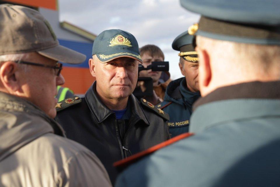 Ruský ministr pro mimořádné situace Jevgenij Ziničev v Norilsku. Foto: mchs.gov.ru