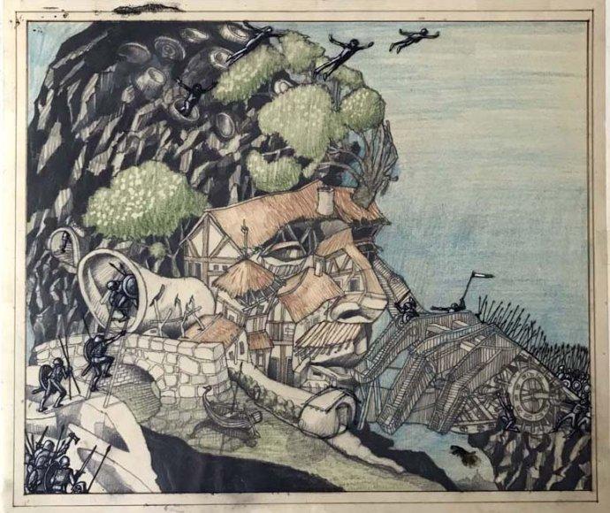 Podobizna Harlana Ellisona od jeho dvorních výtvarníků Lea a Diane Dillonových vyšla na obalu sbírky Essential Ellison. Repro: R. Michelson Galleries
