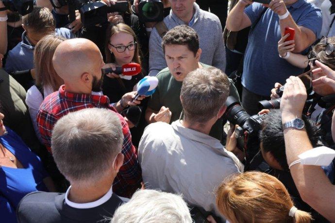 Andrej Babiš mladší na zahájení kampaně hnutí ANO. Foto: Ludvík Hradilek, Deník N